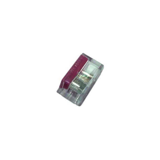 Skrueløs samlemuffe 2x1.5-2,5mm² transparent  100 stk.