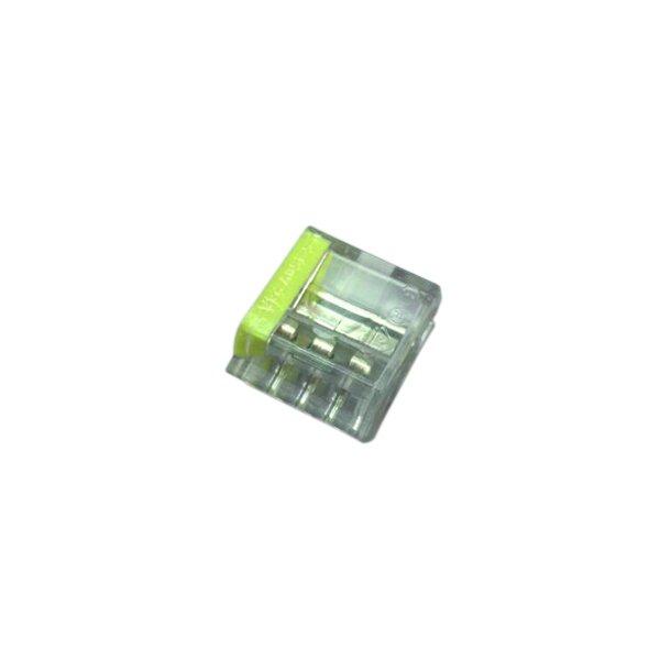 Skrueløs samlemuffe 4x1.5-2,5mm² transparent  100 stk.