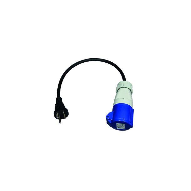Adaptersæt 1 - CEE mellemled 3P/16A/230V & DK stikp m/ jord