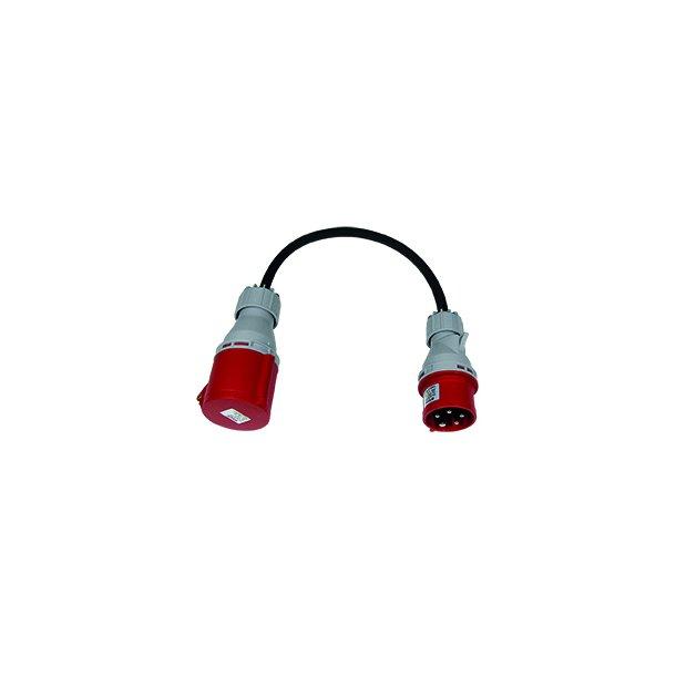 Adapter med 16A stikprop + 32A mellemled 5pol