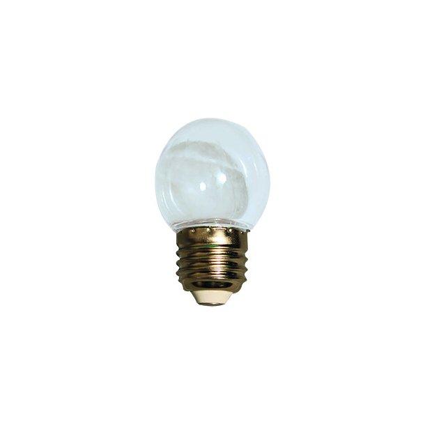 Lyskilde E27 1W LED for LEDlyskæde - farve transparent