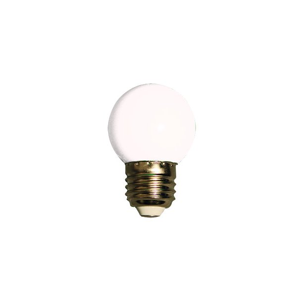 Lyskilde E27 1W LED for LEDlyskæde - farve hvid
