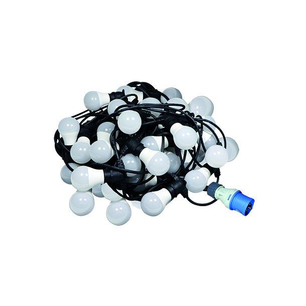 LED lyskæde - 40 meter/40 LED/7W/B22/CEE stikprop/mellemled
