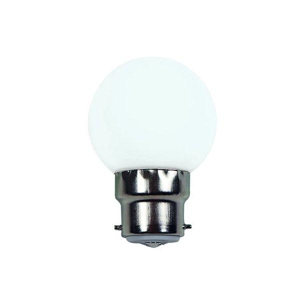 Lyskilde B22 7W LED for LED lyskæde - farve hvid
