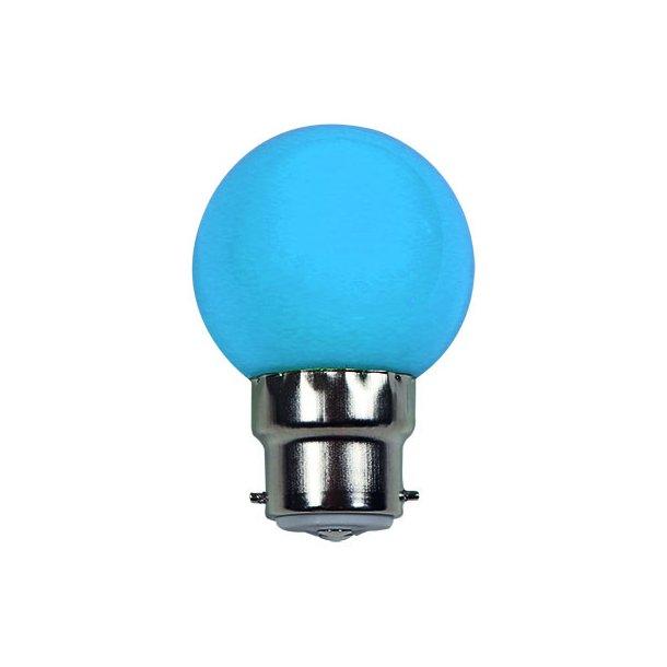 Lyskilde B22 1W LED for LED lyskæde - farve BLÅ