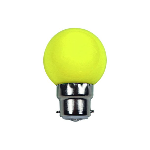 Lyskilde B22 1W LED for LED lyskæde - farve GUL