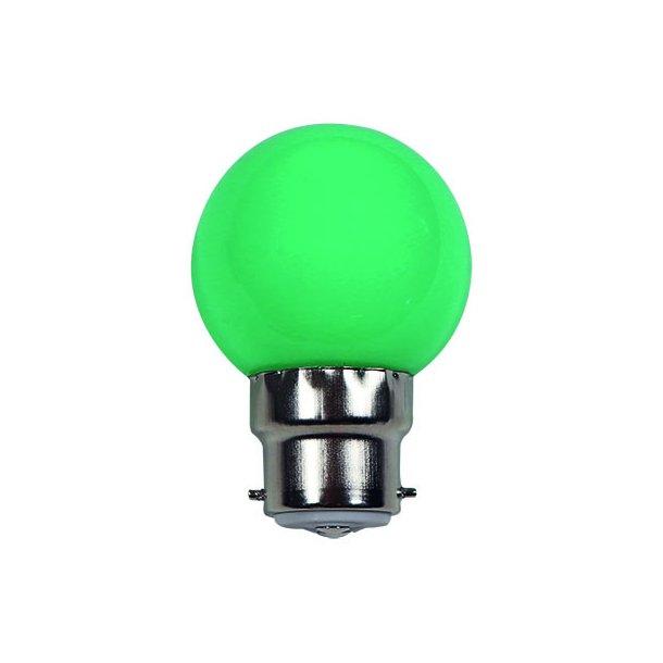 Lyskilde B22 1W LED for LED lyskæde - farve GRØN