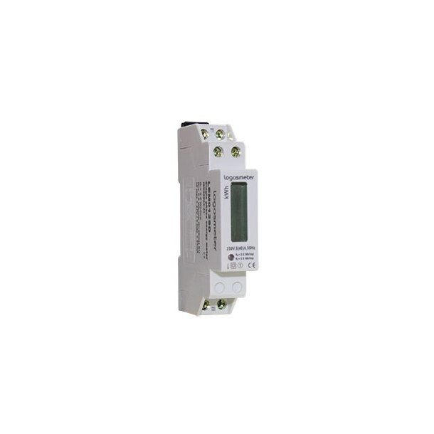 Bimåler 1F. elektronisk digital display 230V/5 (32A)