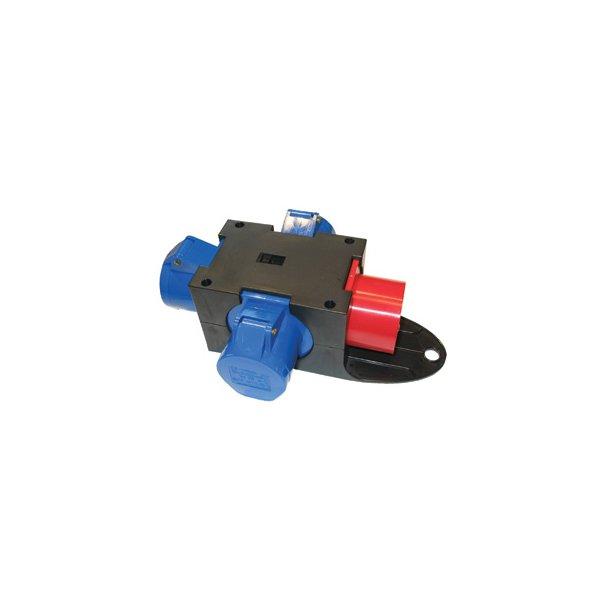 Kompaktforgrener - Type E indg: 5P/16A/400V udg: 3 x 3P/16A
