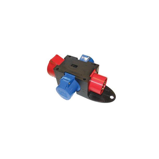 Kompaktforgrener - Type C  indg: 5P/16A/400V udg: 1 x 5P/16A
