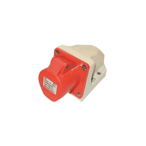 CEE Vægudtag standard - 5P/16A/400V - IP44 - rød