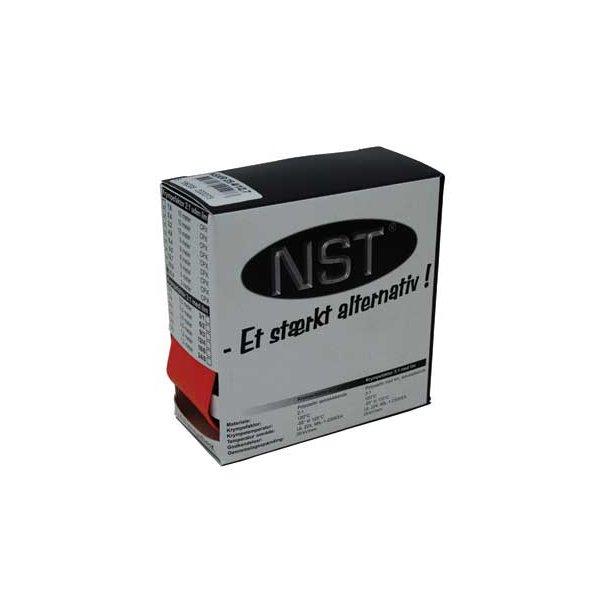 Krympeflex æske. NSXR 2,4/1,2 - u. lim - Rød - 10 mtr