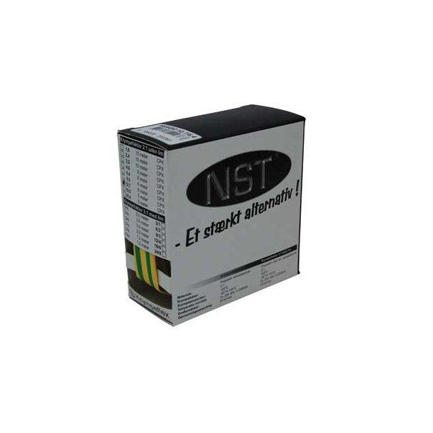 Krympeflex æske. NSXGG 3,2/1,6 - u. lim - Gul/Grøn - 10 mtr